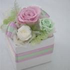 作品No. P1-017: size: 10x10x13cm  (Preserved Flower 〜¥4,000)