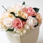 作品No. P2-001 size: 15x15x18cm(Preserved Flower ¥4,000〜¥8,000)